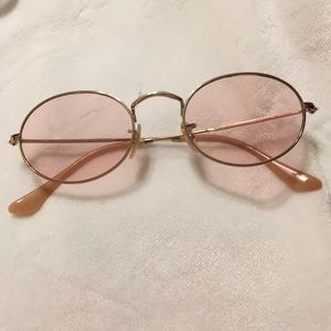 Ray-Ban rose gold oval sunglasses